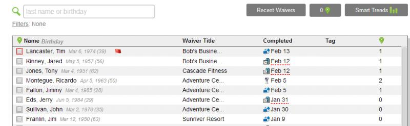 Waiver Console