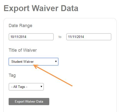 Waiver Index